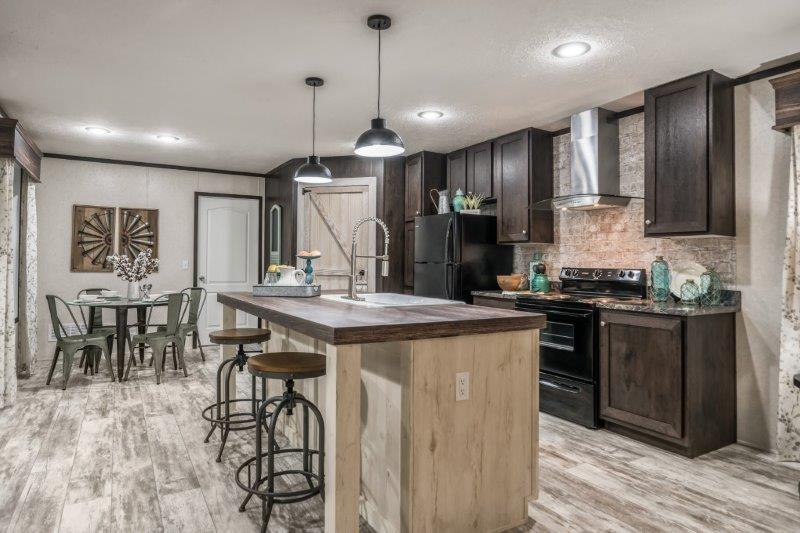 The American Farmstead modular home kitchen